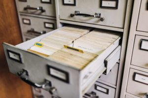 image of files in cabinet