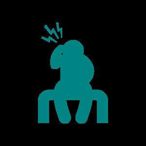 Icon of person with a headache