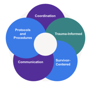 Graphic showing how the difference components of aftercare